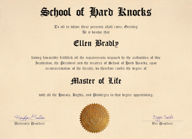 School of Hard Knocks diploma