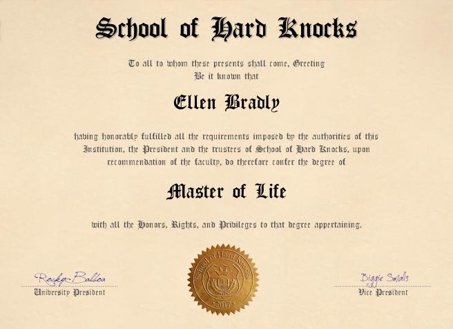 School of Hard Knocks diploma
