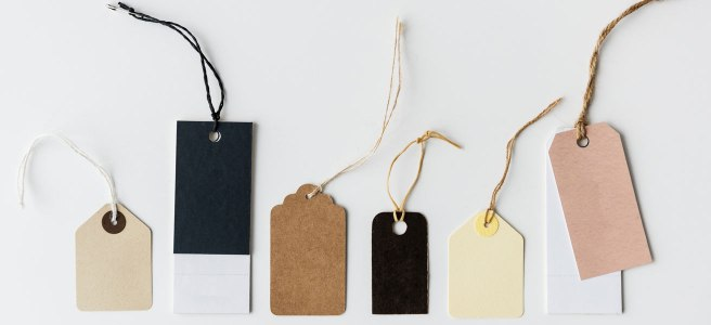 A collection of gift tags